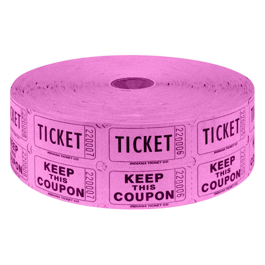 2 part raffle tickets 2000 roll surplus unlimited store
