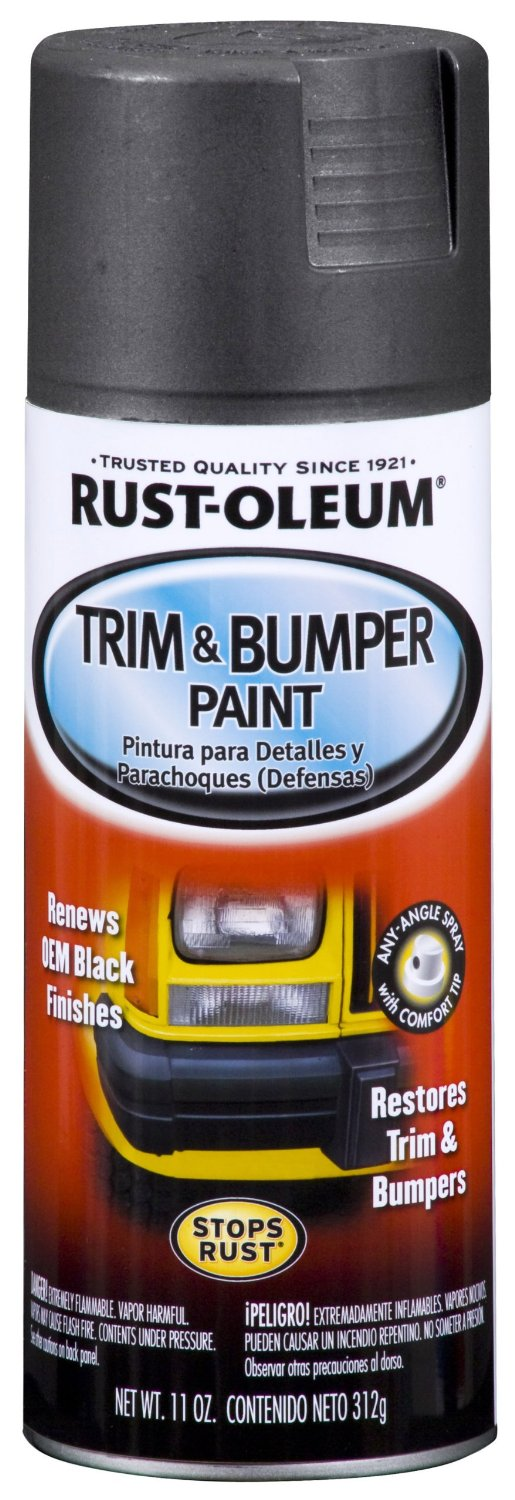 rust oleum 251574 11 ounce trim bumper spray matte black. Black Bedroom Furniture Sets. Home Design Ideas