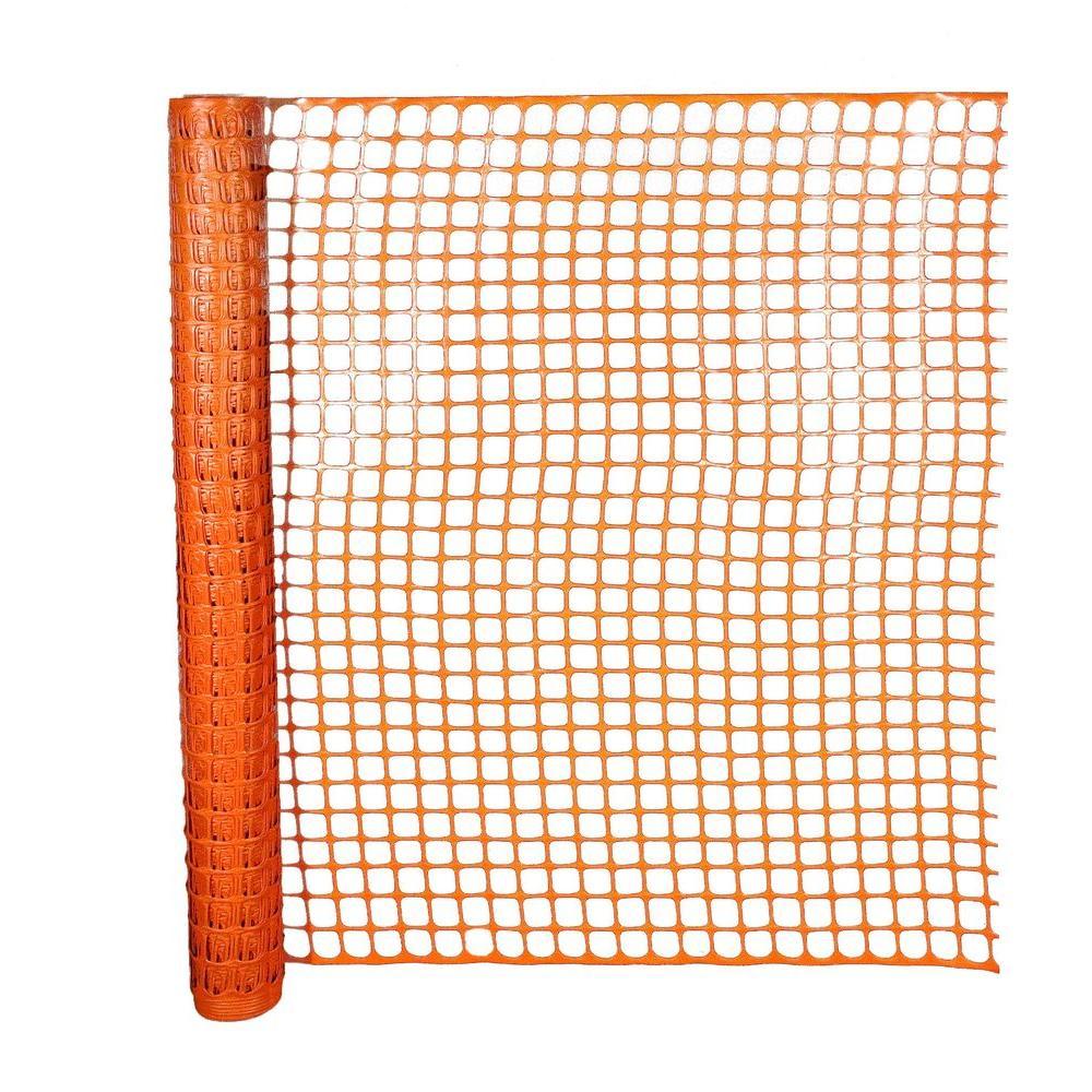 4 Ft X 50 Ft Orange Barrier Safety Edge Fence Surplus